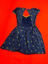 Abercrombie & Fitch Dress S M L Blue Bird Print Cutout V-neck Rayon New Molly