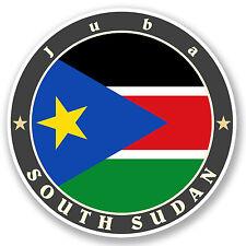 2 X 10cm il Sudan meridionale adesivo vinile iPad Laptop Auto Bandiera BAGAGLIO VIAGGIO tag # 5192