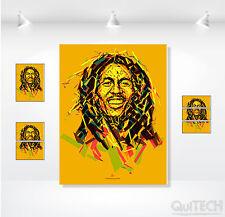 Bob Marley - 12 - Quadro stampa su Tela Pelle Canvas Dipinto Arte Moderna