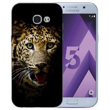Samsung Galaxy A5 2017 Silikon TPU Handy Hülle Tasche mit Leopard Bilddruck Etui