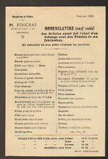 """TOULOUSE (31) USINE de PEDALES pour VELO """"M. FOUCRAS"""" en 1918"""