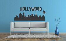 Wall Decals Hollywood Sign California Skyline Dorm Decor Landmark Palm Tree Famo