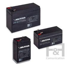 batteria batterie piombo ricaricabili hiltron 6V 4.5 ah 12V 7ah 12V 2Ah allarme