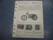 1973 1974 TL125 TRIALS 73 74 TL 125 HONDA OEM DEALER ASSEMBLY SET UP MANUAL