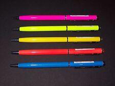 Kugelschreiber mit Swarovski Elements neon farblich sortiert