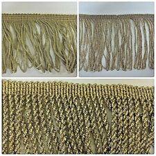 Metallic Light Gold Twisted  Fringe & Decorative Dress Furnishing Trim