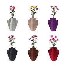 Faltbare Vase Filz Blumenvase Soff Blumenvase Deko Vase Flaschenummantelung
