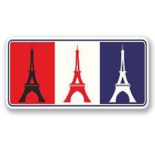 2 x Paris France Vinyl Sticker iPad Laptop Car Travel Luggage Tag Fun Gift #4613