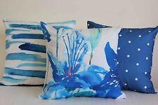 "Art Decor Watercolour Sea Blue Home Cotton CUSHION COVERS Throw PILLOW CASE 18"""