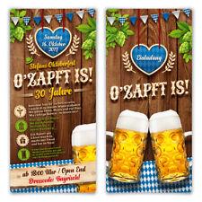 Einladungskarten Oktoberfest Geburtstag Bayern Einladungen - O'zapft is! in Blau
