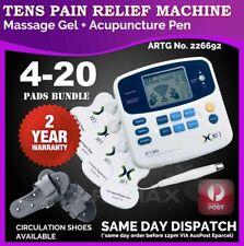 TENS Machine Massager Unit XFT320A +Acupuncture Pen w/Extra Pads BUNDLES Physio