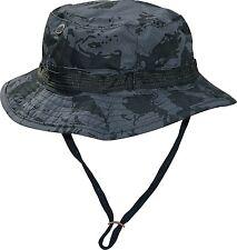 US GI Boonie Hut Hat Buschut Schlapphut Angler-Hut Tropenhut Schwarz Camouflage