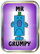MR GRUMPY 2oz GOLD TOBACCO TIN,STASH CAN,STORAGE TIN