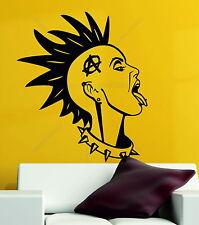 La anarquía Chica Punk Rock Rebel Goth música Emo Vinilo Decorativo pegatinas de pared calcomanía