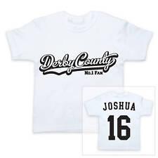 Derby County Football personnalisé pour garçons / T-shirt fille