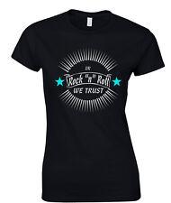 ROCK & Roll Camiseta y ROCKER Greaser Estilo 50's AÑOS 50 Rockabilly mujer niña