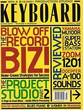 1998 ZOOM 1201 Yamaha MU100R Novation Super Bass Station Rev'w Keyboard Magazine