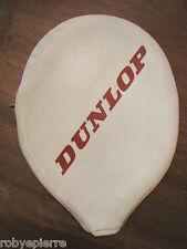 Custodia fodera bianca porta Racchetta da tennis in legno vintage dunlop white
