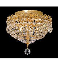 Palace Empire 4 Light Flush Mount Crystal Chandelier Light -G Precio Mayorista