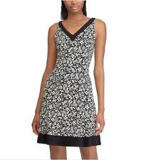 f9d278f607d Petite Chaps Floral Fit   Flare Floral Dress NEW MSRP  95