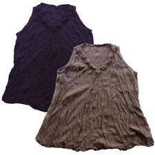Peasant Hand Crochet Neck Sleeveless Top, Mexican/Oaxacan/Summer Blouse T0379X