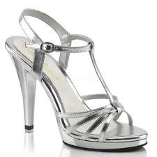 Silver Pin Up Ballroom Dance Drag Queen Heels Crossdresser Shoes size 12 13 14