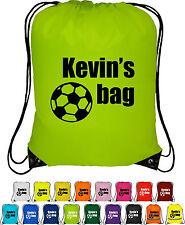 Personalised Bag Sack - Drawstring Bag - backpack - FOOTBALL DESIGN BOYS bag
