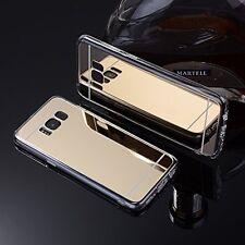 Samsung Galaxy S8 | S8 Plus Case, Slim TPU Soft Reflective Mirror Back
