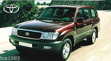 1998 TOYOTA LANDCRUISER / Land-Cruiser AMAZON SPEC SHEET / Brochure