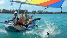 Sail Kit for Intex Excursion Pro & Ozark Trail Bolt Kayaks. Folds!  Tacks upwind