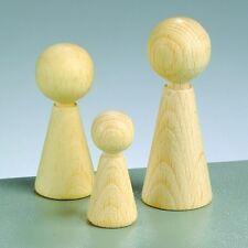 Spielfiguren Holz Figurenkegel Buche gebleicht für Brettspiele versch. Größen