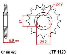 ACIER PIGNON YAMAHA DT50 R 97-98 13 Dent  type  jtf1120.13 420