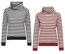 ONLY Damen Sweat-Shirt Pullover onlSIAN L/S HIGHNECK SWT Streifen Hoodie Pulli