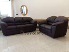 divano imbottito 2 posti e 3 posti in ecopelle pelle salotto sofà divani ITALIA