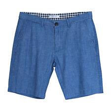 New Men's Linen Blend Walk Shorts Regular Fit Size 31 32 33 34 35 36
