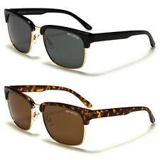 Polarized Retro Vintage Sunglasses Mens Womens Metal Half Frame
