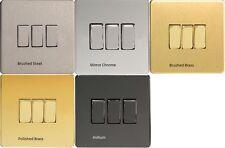Varilight 3 Gang (triple), 1 o 2 forma 10 Amp Interruptor de la luz, sin tornillos del eje de balancín