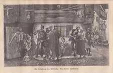 Verhaftung eines Wilddiebes Wildschütz HOLZSTICH von 1881 Wilddieb