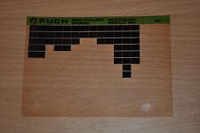 Ersatzteilkatalog Microfich Puch Fahrrad Modelle 1984