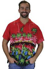Funky Camisa Hawaiana Dolphin Rojo