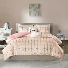 Intelligent Design Raina Comforter Set Full/Queen Size - Blush Gold, Geometric
