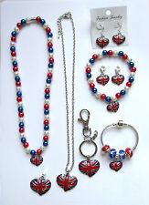 Union Jack / Royal Baby Celebration Necklace Bracelet Charms Keyring
