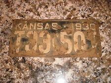 1930 KANSAS LICENSE PLATE T33C 507