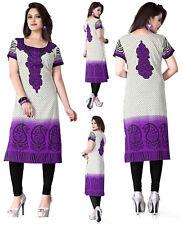 UK STOCK - Women Fashion Indian Long Kurti Tunic Kurta Top Shirt Dress 117D