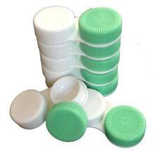 1 -10  Kontaktlinsenbehälter weiß/grün für Kontaktlinsen aller Art | NEU