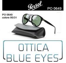 Occhiali da Sole Persol PE 0649 649 95/31 Black Green McQueen Sunglasses NERO
