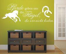Wandtattoo Spruch - Pferde geben uns Flügel Wandaufkleber Wandsticker Aufkleber
