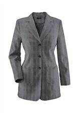 Blazer M.I.M Business Size us 12 - 22 Ladies Stretch Grey Long jacket Festive