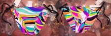 NWT $80 Trina Turk St Tropez Reversible Tie Side Bikini Swimsuit Bottom Womens 6