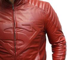 superhombre chaqueta de cuero Moto Racing Biker de todo tamaño ES